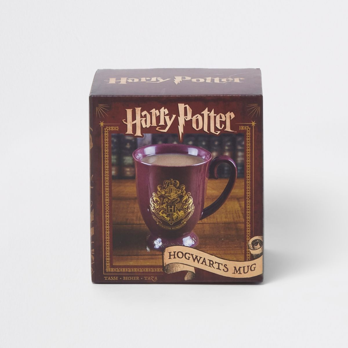 Red Harry Potter Hogwarts mug