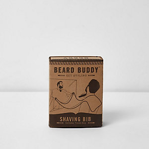 Black beard buddy shaving bib