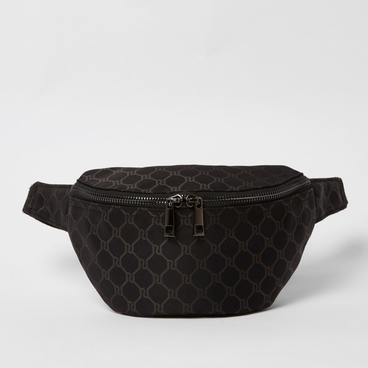 Black RI monogram bumbag