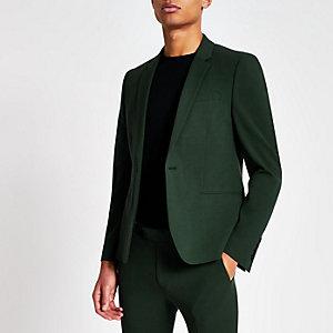 Veste de costume super skinny vert foncé