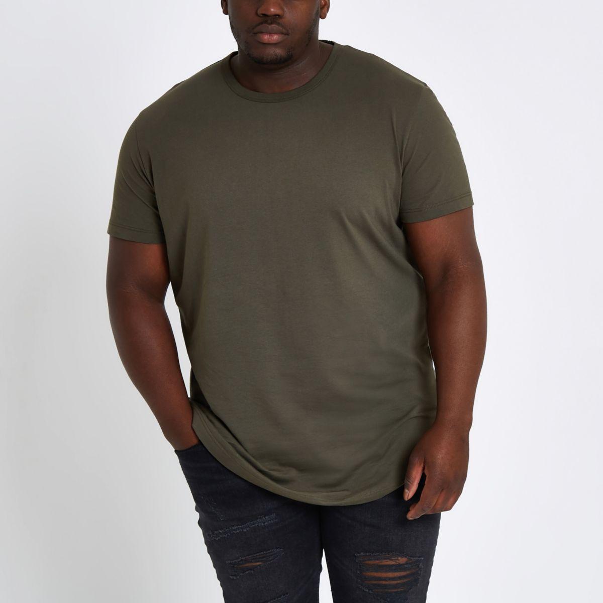 Big and Tall khaki T-shirt