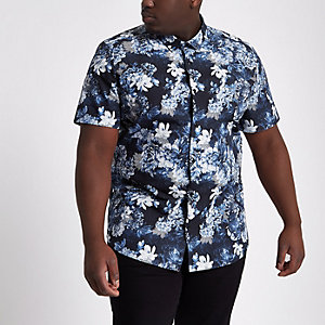 Big and Tall slim fit floral shirt