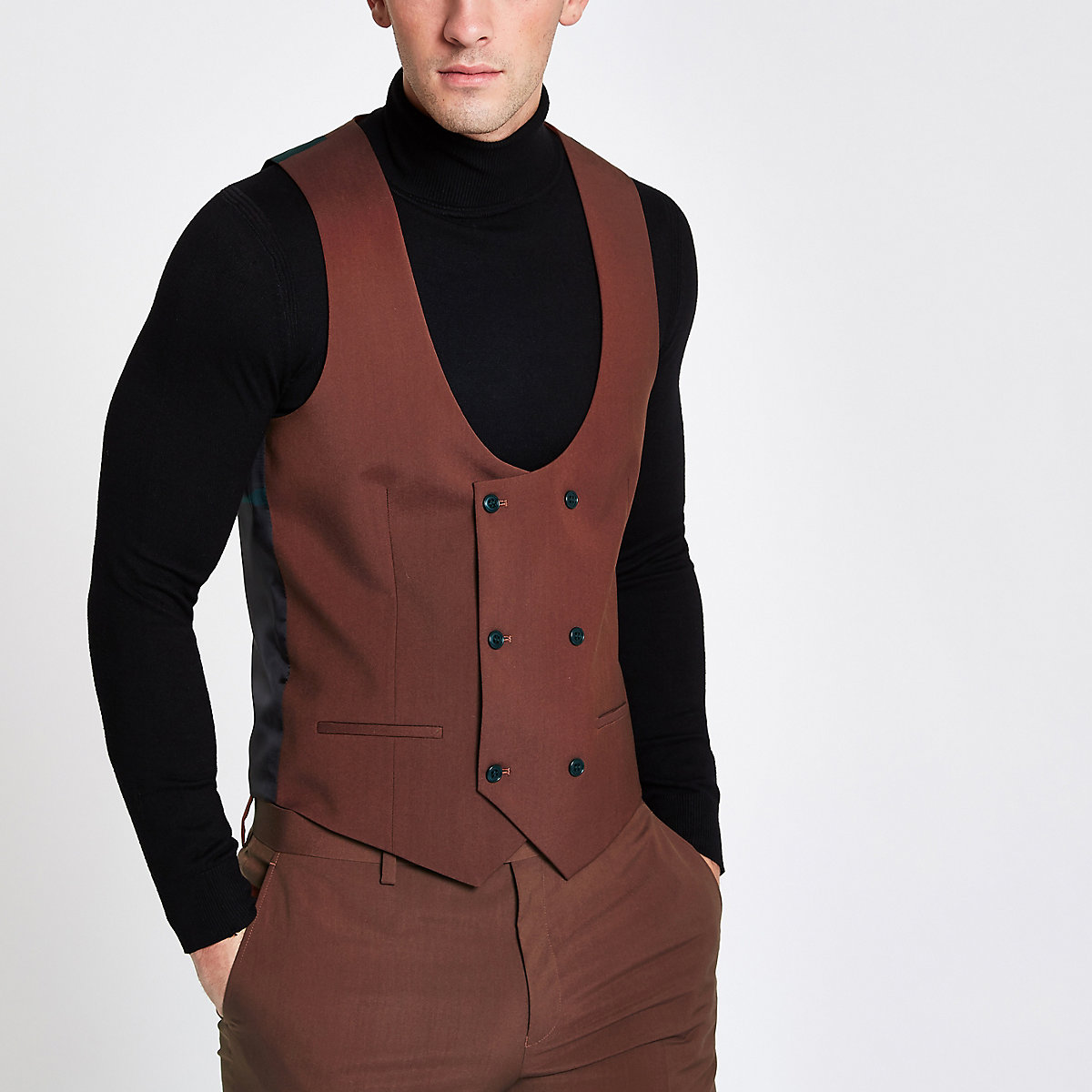Rust smart waistcoat