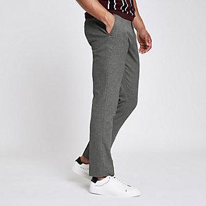 Graue elegante Skinny Fit Hose