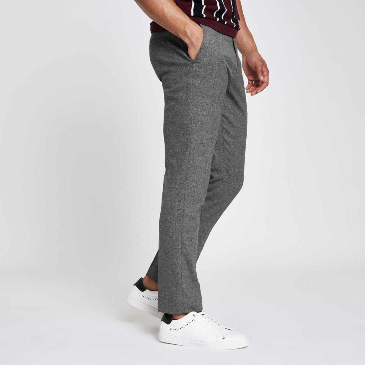 Grey skinny smart pants