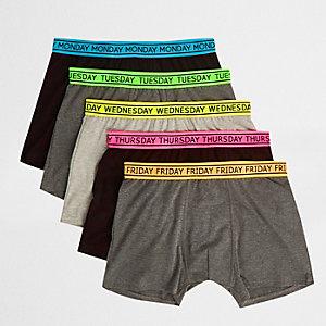 Multipack groene strakke boxers met print