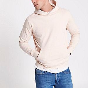 Pink Bellfield long sleeve hoodie