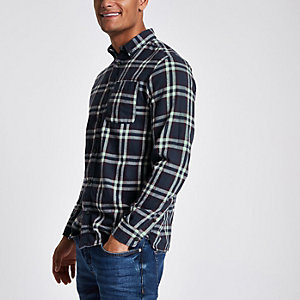 Jack & Jones Original navy check shirt