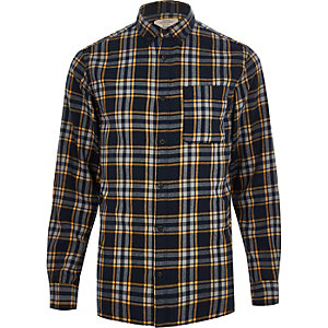 Jack & Jones Originals orange check shirt