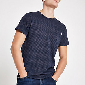 Jack & Jones Originals navy stripe T-shirt