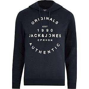Jack & Jones - Sweat à capuche Originals bleu marine