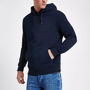Blauwe hoodie met lange mouwen