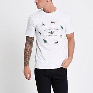 """Weißes Slim Fit T-Shirt """"vivir"""""""