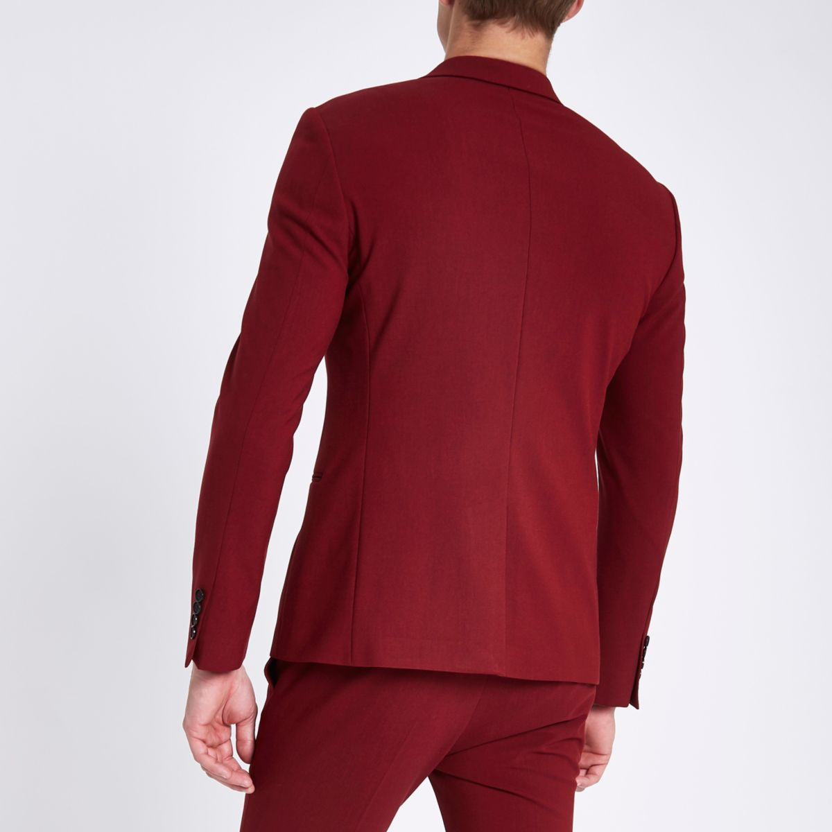 jacket skinny super Red fit suit w4aWOq7K