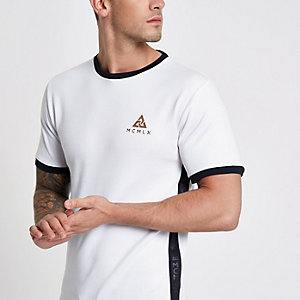 Concept – Weißes Slim Fit T-Shirt