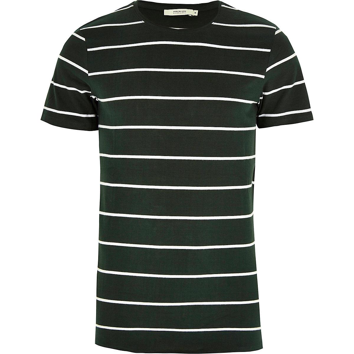 Jack & Jones green stripe T-shirt