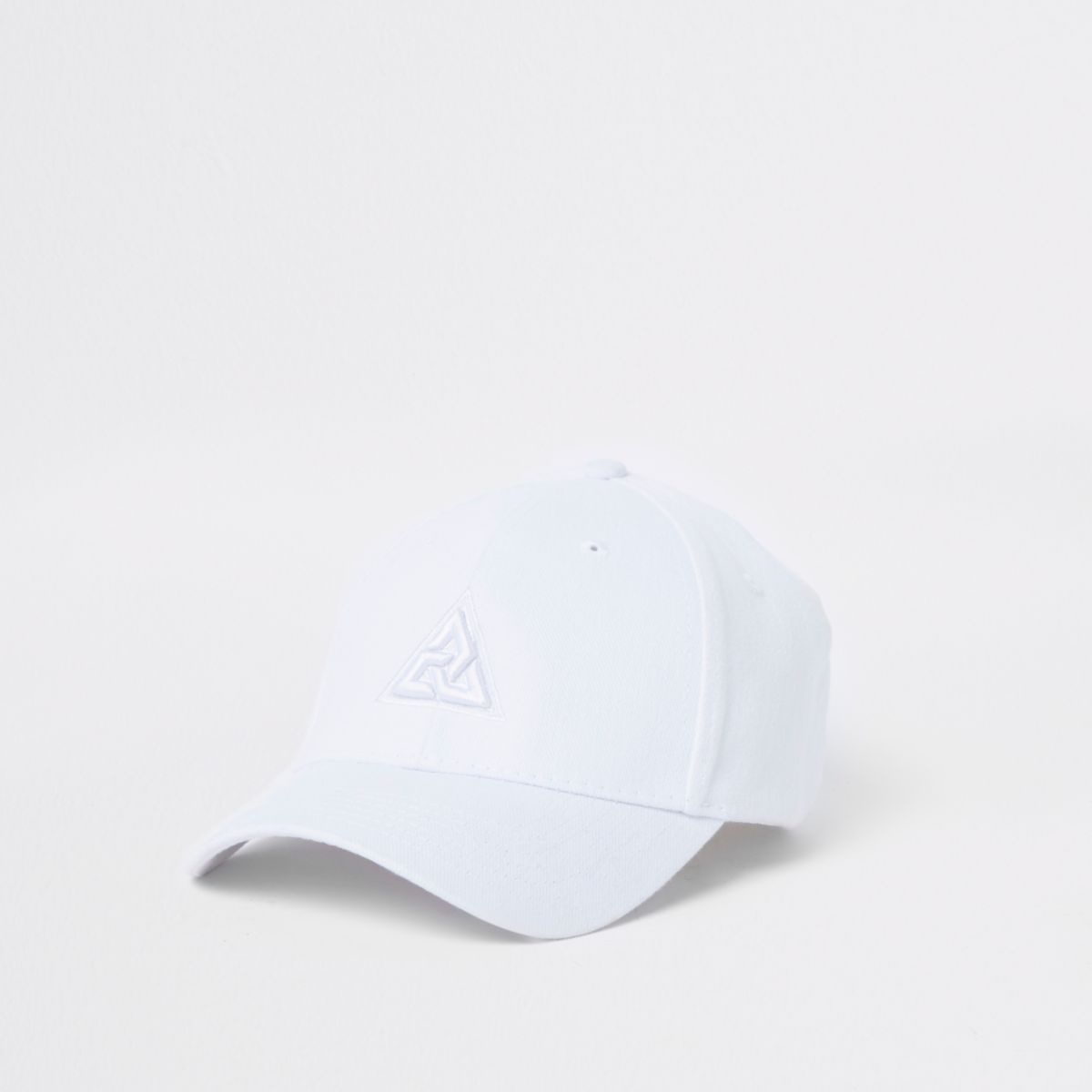 White triangle embroidery baseball cap