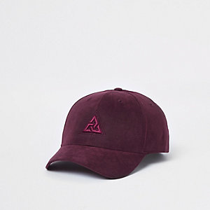 ​Burgundy triangle embroidery baseball cap