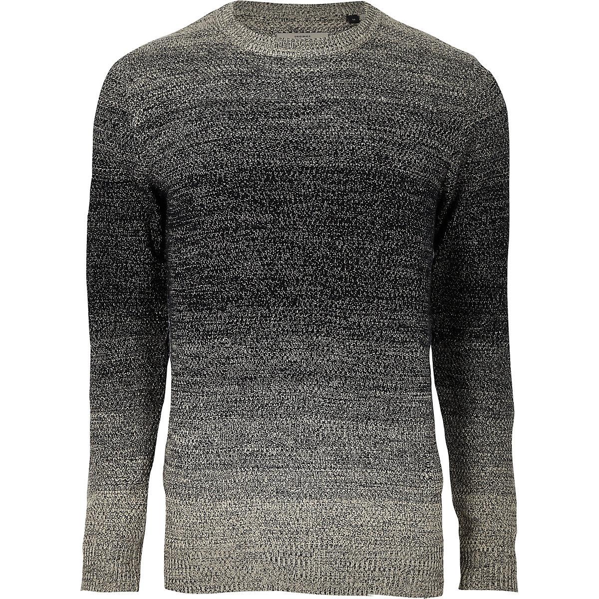 Jack & Jones Originals navy knit sweater