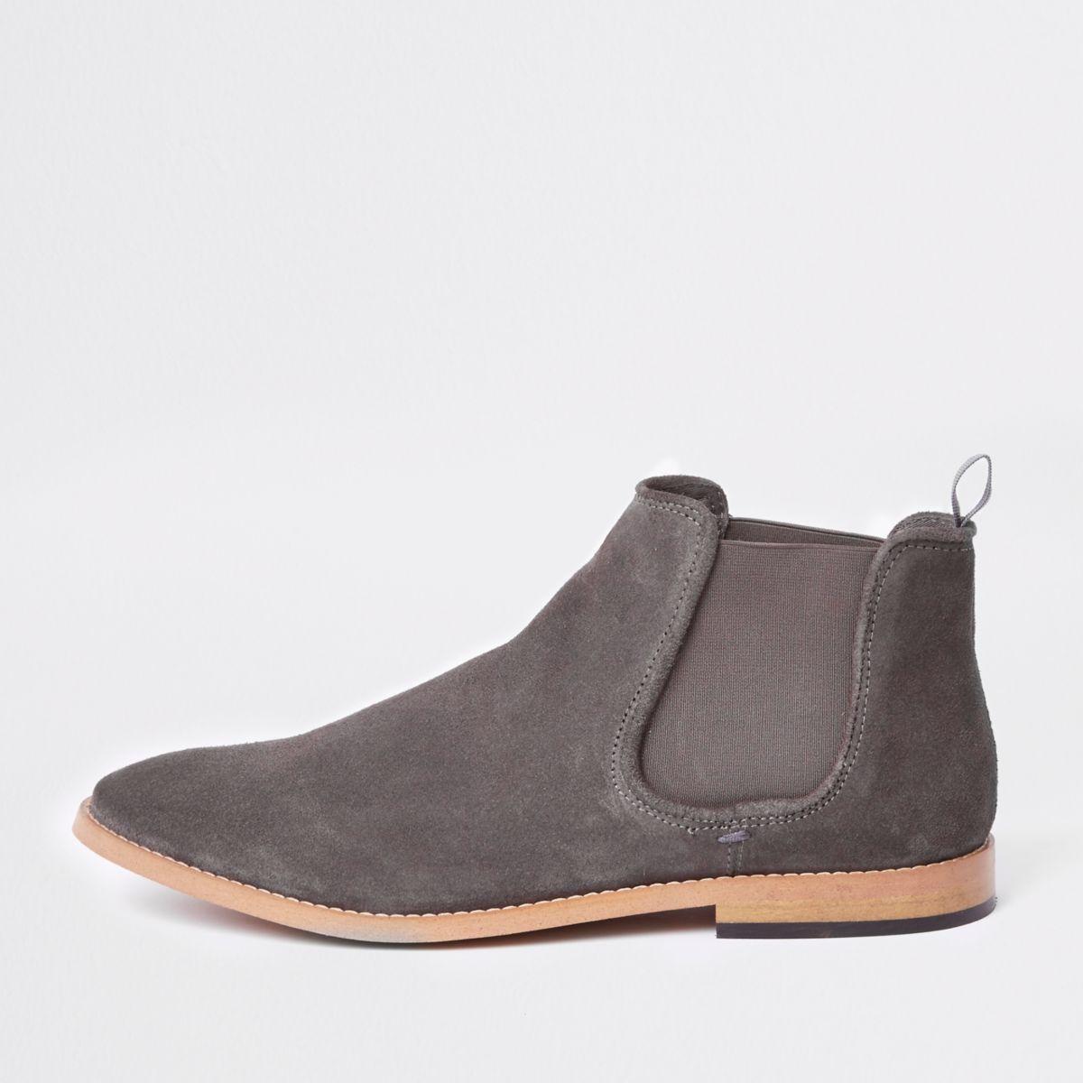Pierre Daim Desert Boots Couleur Avec Oeillets YYT746Xp