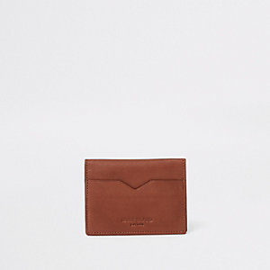Brown fold over card holder