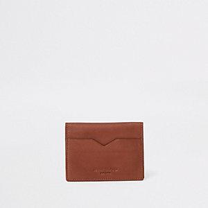 Porte-cartes marron à rabat