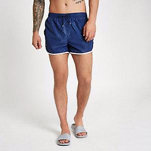Football Bolt navy runner swim shorts