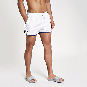 Football Bolt white runner swim shorts