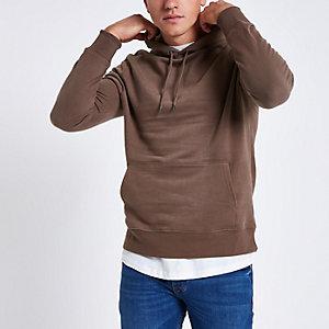 Donkerroze hoodie met lange mouwen