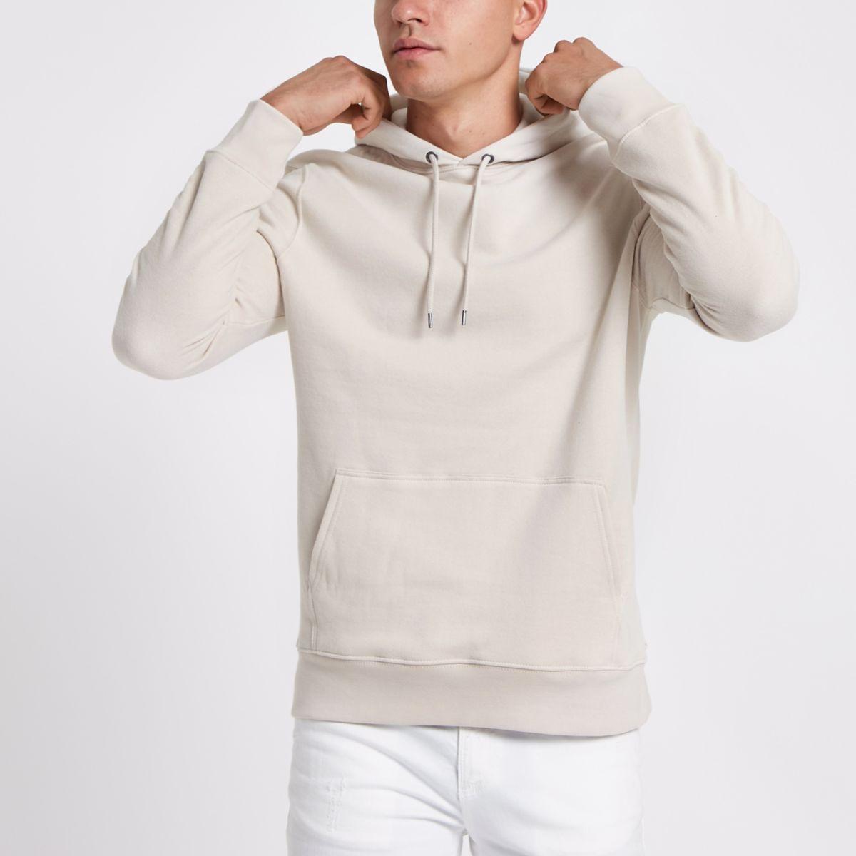 Stone long sleeve hoodie