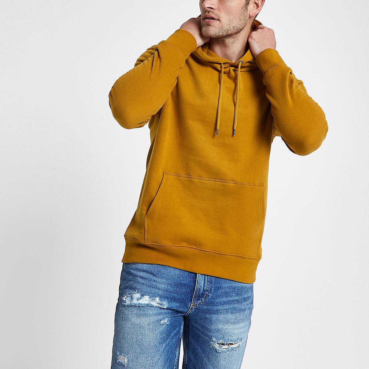 Yellow long sleeve hoodie