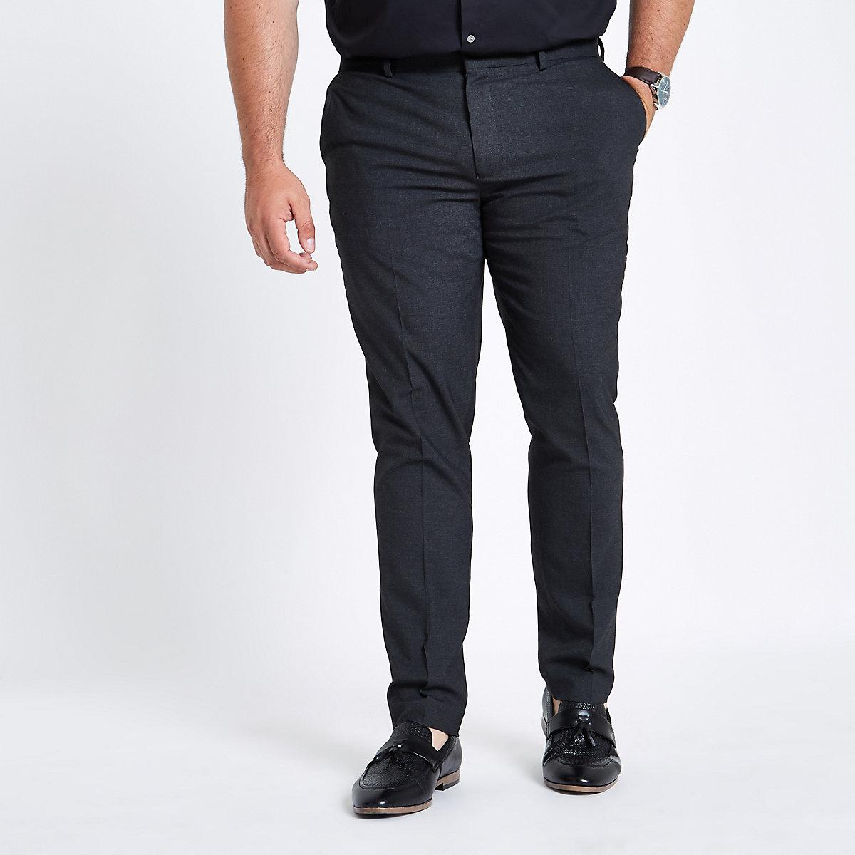 Big and Tall grey skinny smart pants