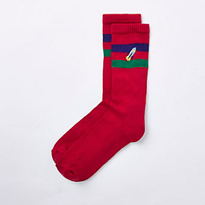 Red rocket novelty tube socks