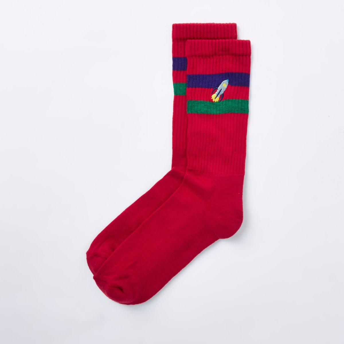 Red rocket novelty tube socks