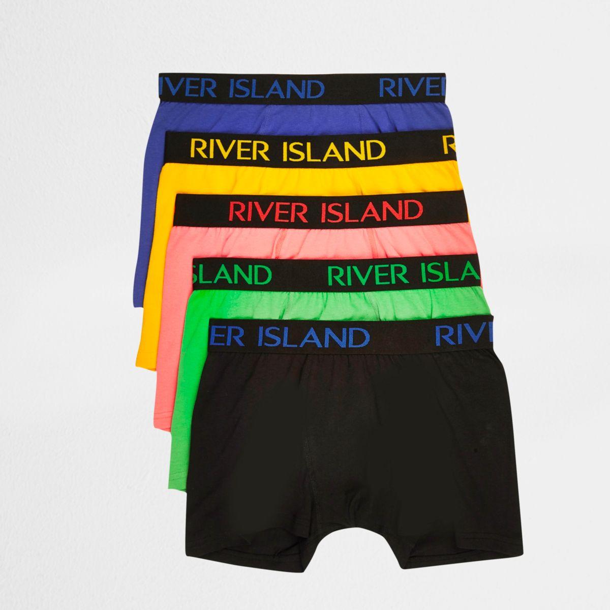 RI – Lot de boxers bleus multicolores