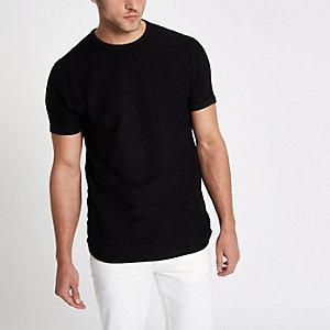 Zwart slim-fit T-shirt