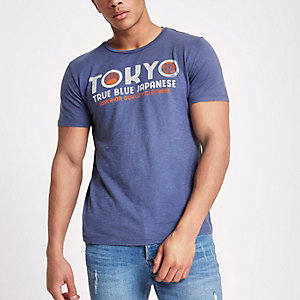 Jack & Jones Premium blue 'Tokyo' T-shirt