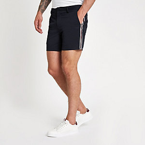 Marineblaue Slim Fit Chinoshorts