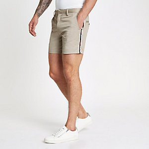 Hellbraune Slim Fit Chino-Shorts