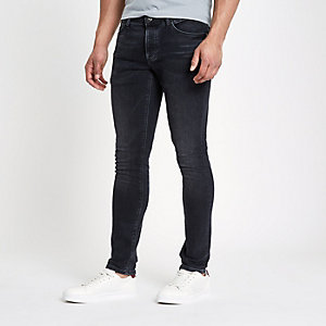 Donkerblauwe slim-fit denim jeans