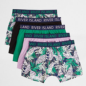 Lot de boxers longs à imprimé tropical