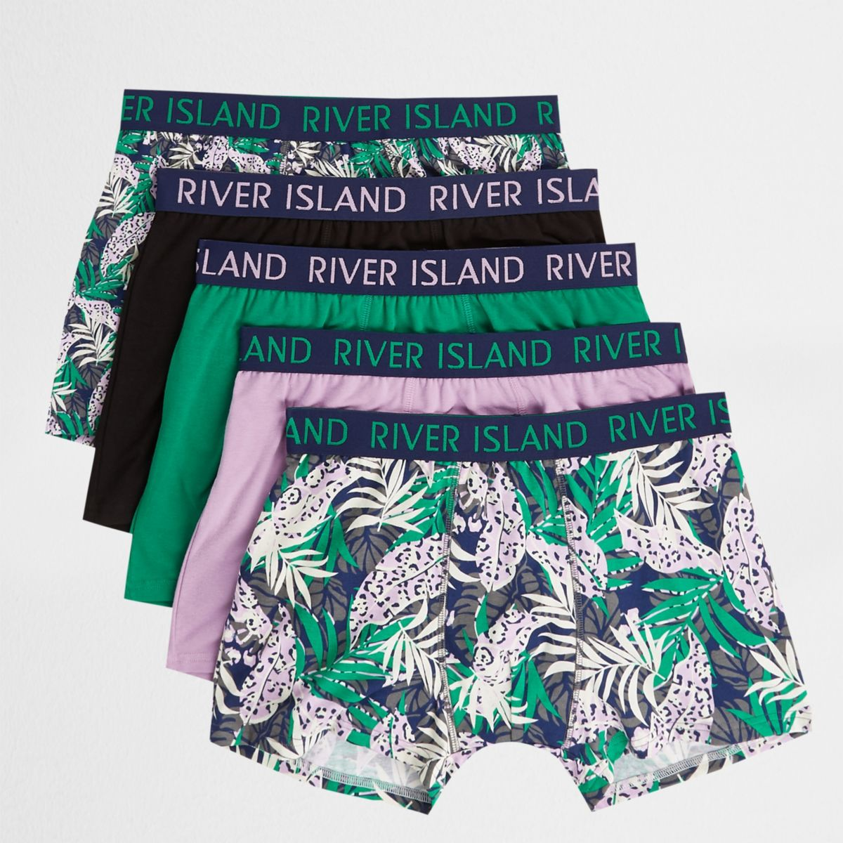 Pink tropical print trunks multipack