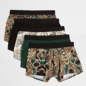 Lot de boxers noirs avec imprimé baroque