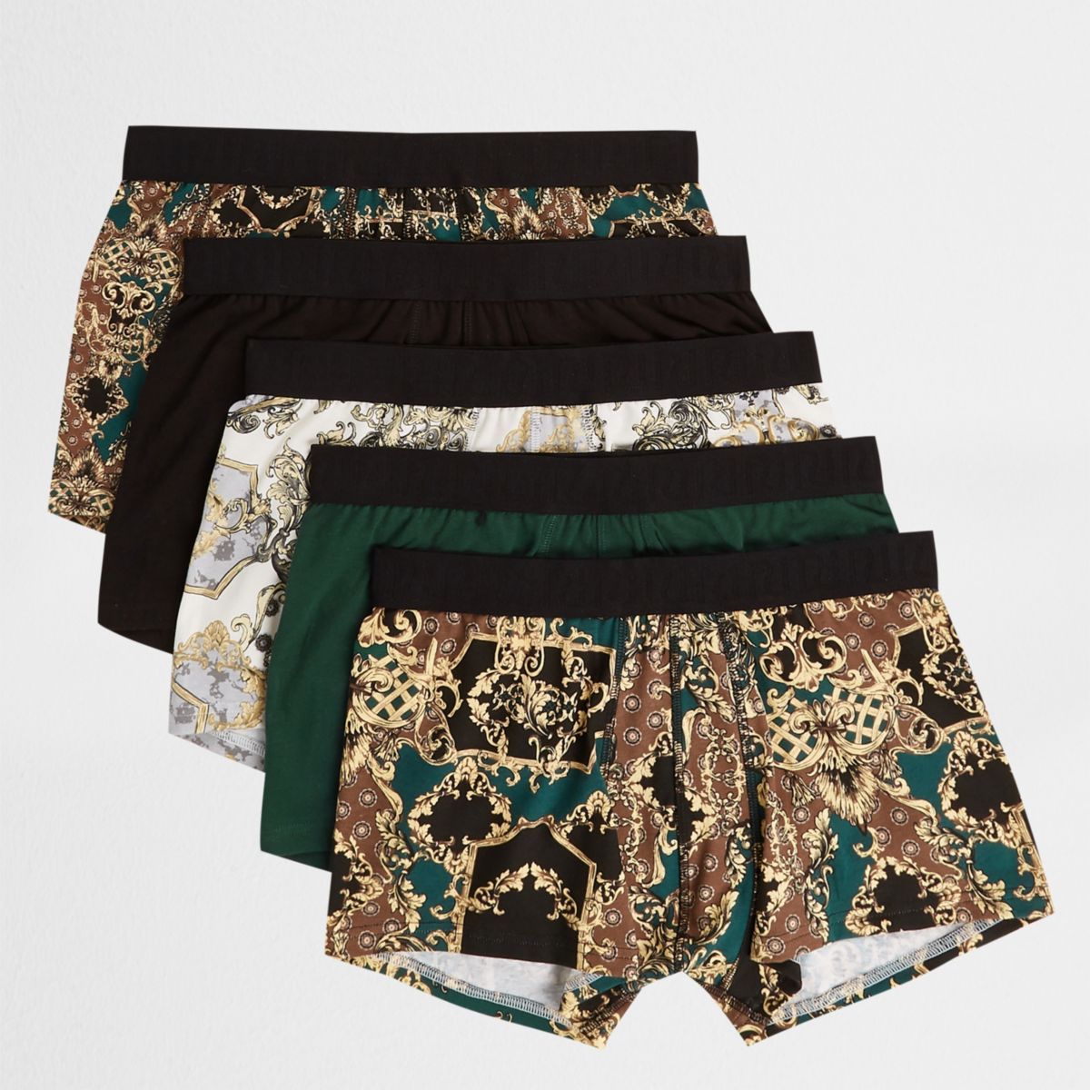 Black baroque hipsters multipack