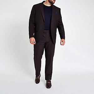Big & Tall - Paarse slim-fit pantalon
