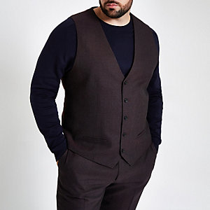 Big and Tall purple waistcoat