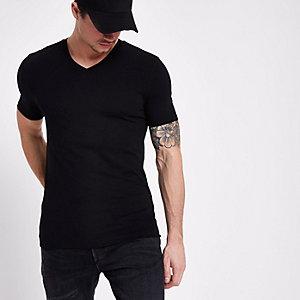 Zwart aansluitend T-shirt