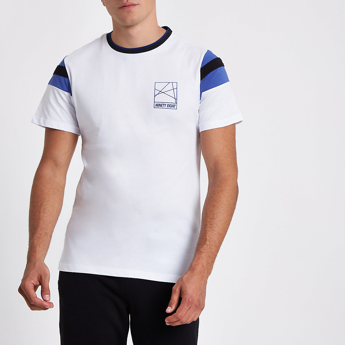 White 'Ninety eight' slim fit T-shirt