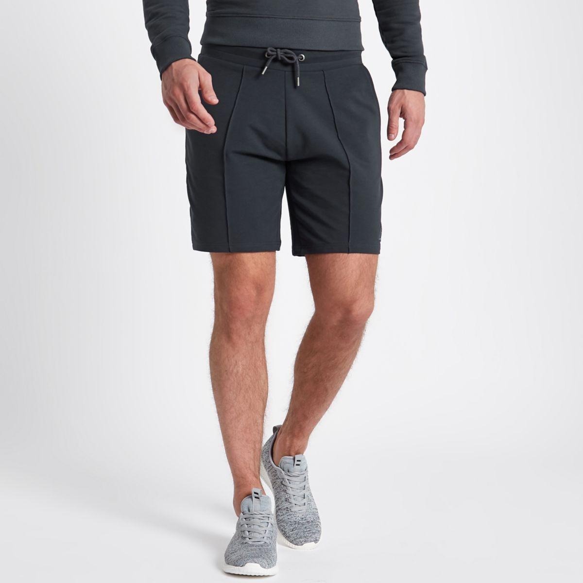 Concept grey slim fit jogger shorts