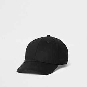 Black tape stripe baseball cap
